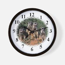 MEERKAT FAMILY Wall Clock