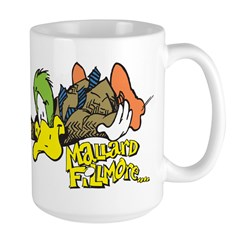 Flying Mallard Large Mug