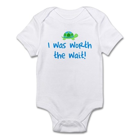 Worth the wait (Boy) Infant Bodysuit