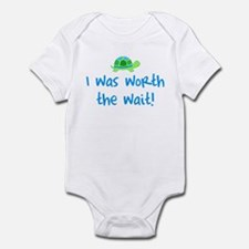 Worth the wait (Boy) Infant Bodysuit