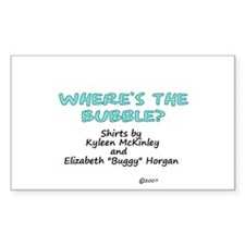 """Where's the Bubble"" Rectangle Decal"