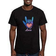 Blue Glass Love Hand T