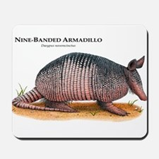 Nine-Banded Armadillo Mousepad