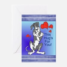 N Blue Mantle Great Dane Hugger Cards (10p)