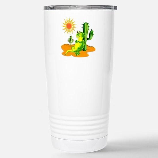 Cactus in the Desert Ig Stainless Steel Travel Mug