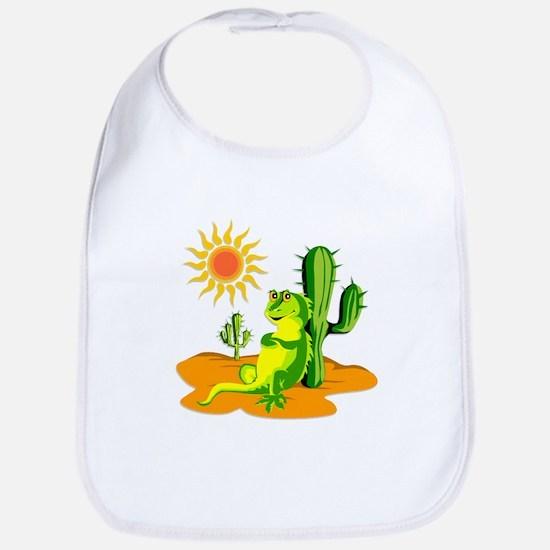 Cactus in the Desert Iguana Bib