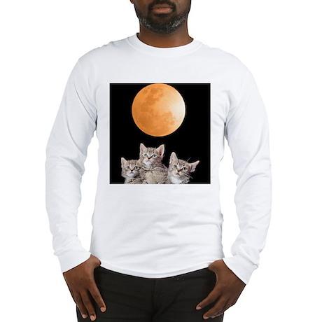 Three Kitten Moon Long Sleeve T-Shirt