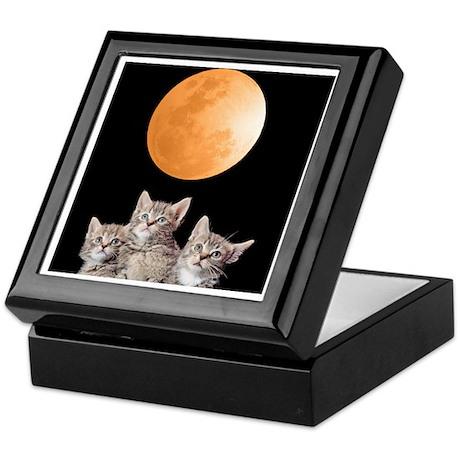 Three Kitten Moon Keepsake Box