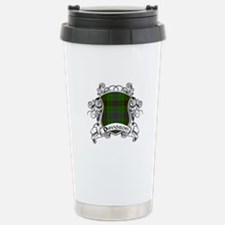 Davidson Tartan Shield Stainless Steel Travel Mug