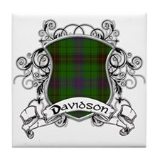 Davidson Tartan Shield Tile Coaster