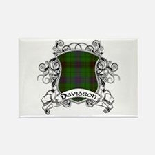 Davidson Tartan Shield Rectangle Magnet