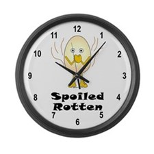 Spoiled Rotten Large Wall Clock