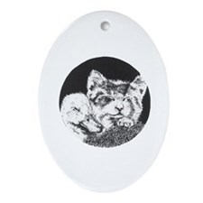 Nap Time Oval Ornament