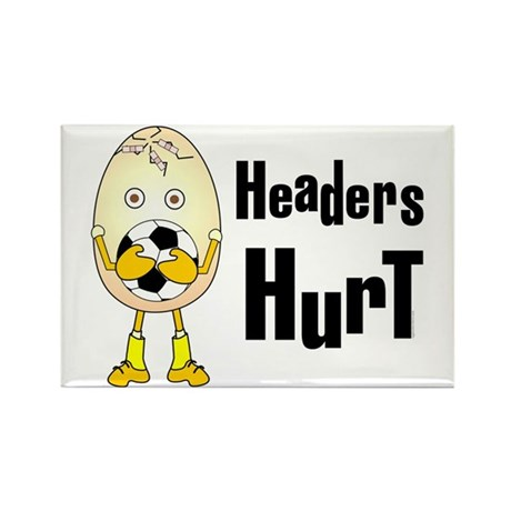 Headers Hurt Rectangle Magnet (10 pack)