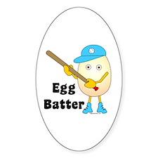 Egg Batter Oval Decal