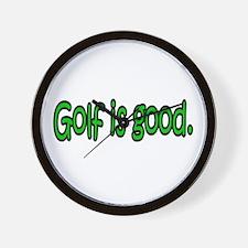Golf is good. Wall Clock