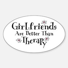 Girlfriend Therapy Oval Decal