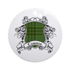 Currie Tartan Shield Ornament (Round)