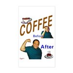 Coffee! Rectangle Sticker