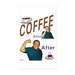 Coffee! Rectangle Sticker 50 pk)