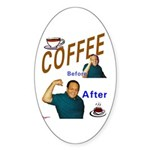 Coffee! Oval Sticker (50 pk)