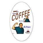 Coffee! Oval Sticker (10 pk)