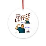 Coffee! Ornament (Round)