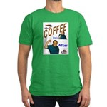 Coffee! Men's Fitted T-Shirt (dark)