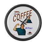 Coffee! Large Wall Clock