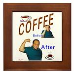 Coffee! Framed Tile