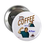 "Coffee! 2.25"" Button (100 pack)"