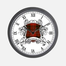 Cunningham Tartan Shield Wall Clock