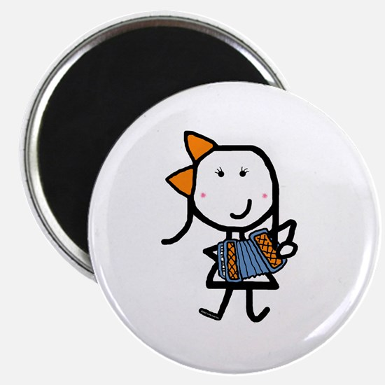Girl & Accordion Magnet