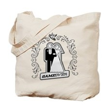 Art Deco Silver Wedding Tote Bag