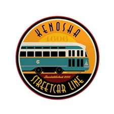 "Kenosha Streetcar 3.5"" Button (100 pack)"