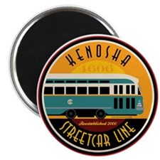 "Kenosha Streetcar 2.25"" Magnet (100 pack)"