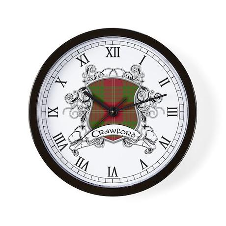 Crawford Tartan Shield Wall Clock
