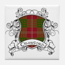 Crawford Tartan Shield Tile Coaster