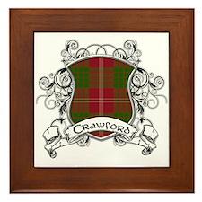 Crawford Tartan Shield Framed Tile