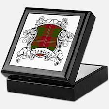 Crawford Tartan Shield Keepsake Box