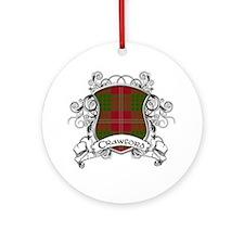 Crawford Tartan Shield Ornament (Round)