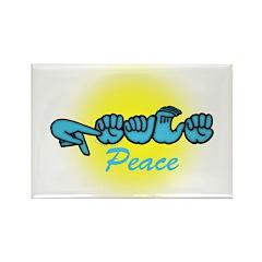 PEACE Glo CC Rectangle Magnet