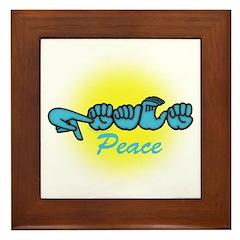 PEACE Glo CC Framed Tile