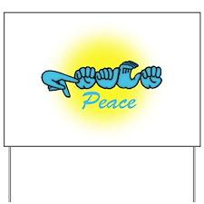 PEACE Glo CC Yard Sign