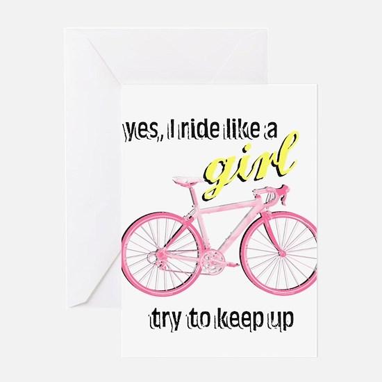 Ride Like A Girl Greeting Card