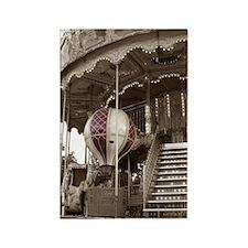 Paris Carousel Rectangle Magnet