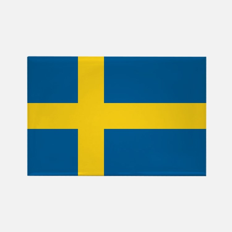 Swedish Flag Rectangle Magnet