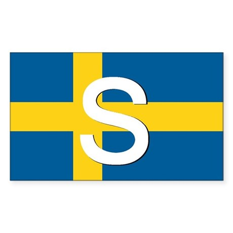 Swedish Flag Rectangle Sticker