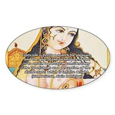 Sex Quote: Kama Sutra Art Oval Decal