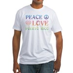 Peace Love Puerto Rico Fitted T-Shirt